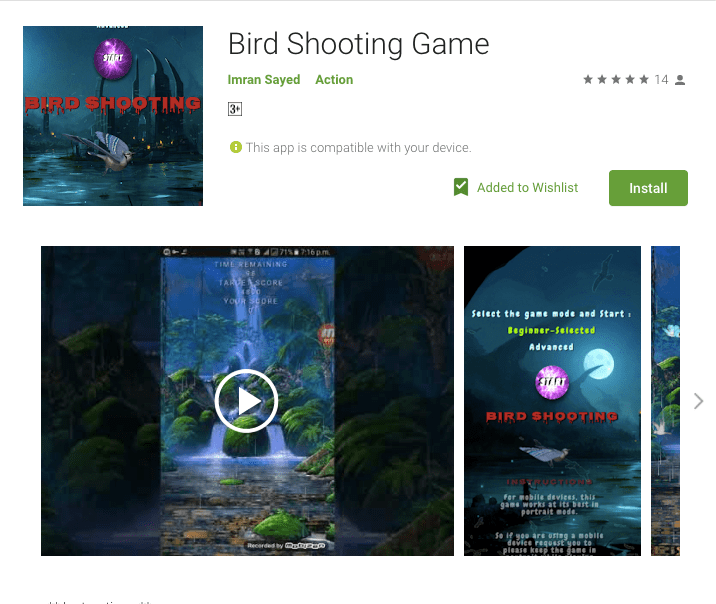 Bird Shooting Game