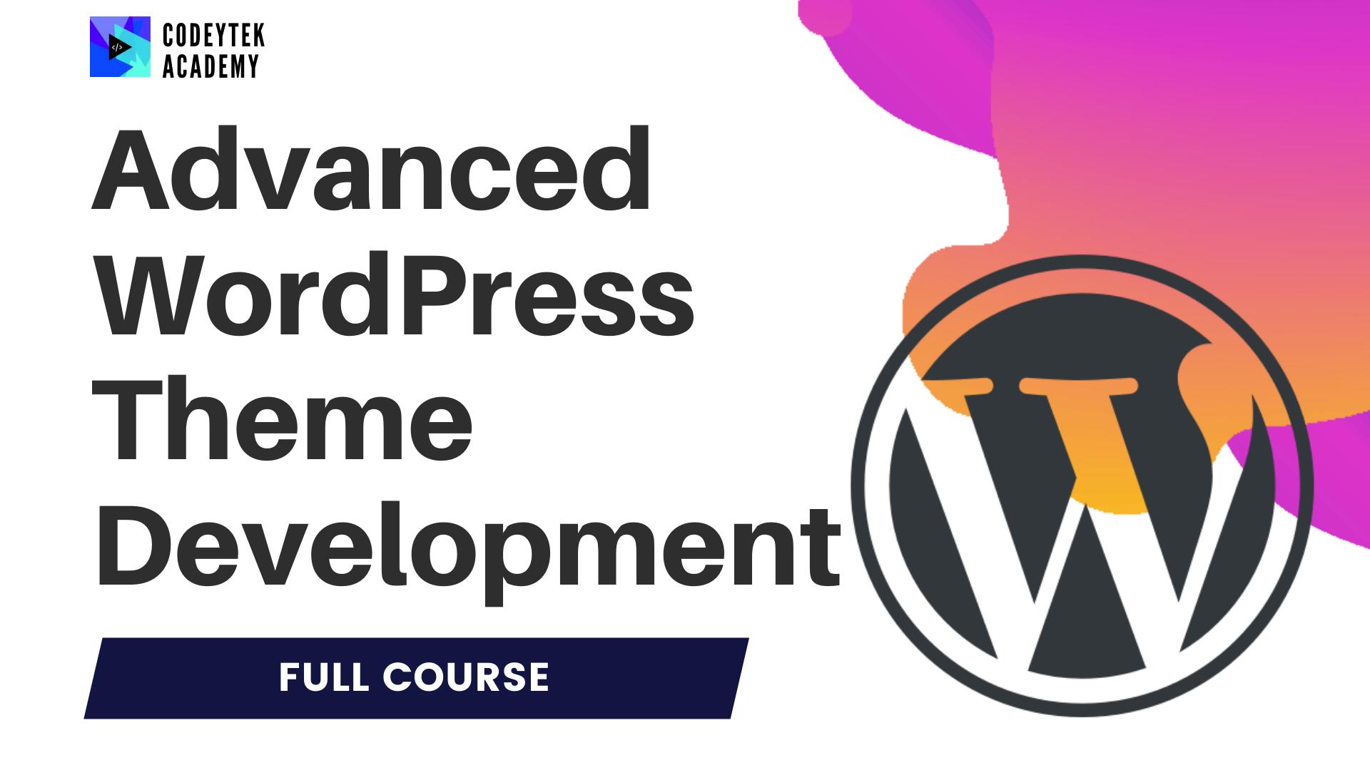WordPress theme development banner